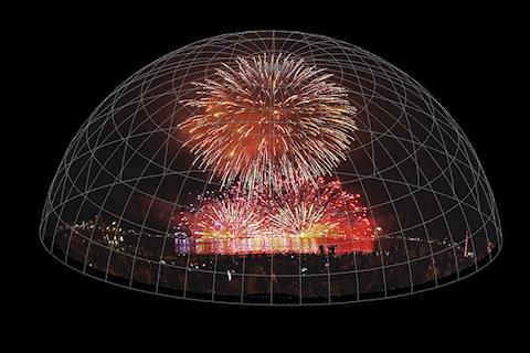 fulldome 全天周ドーム映像制作 花火大会 fireworks